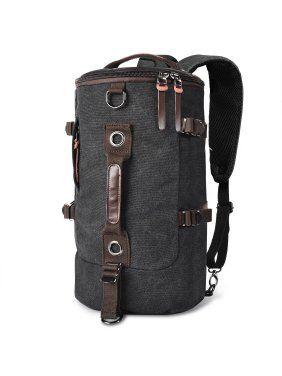 e75e311b9a McMola Retro Duffel Cylinder Bag Canvas Travel Backpack for Men Hiking  Luggage Weekend Bag