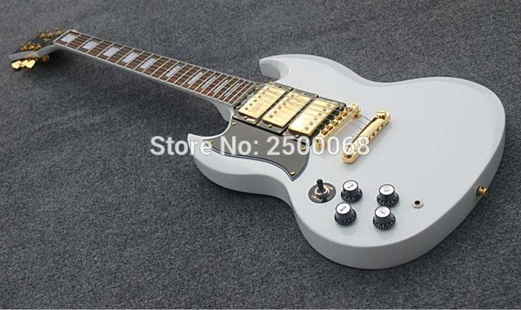==> [Free Shipping] Buy Best Custom guitar store OEM handmade white color left hand 3 pickups SG electric guitar Online with LOWEST Price | 32738800458