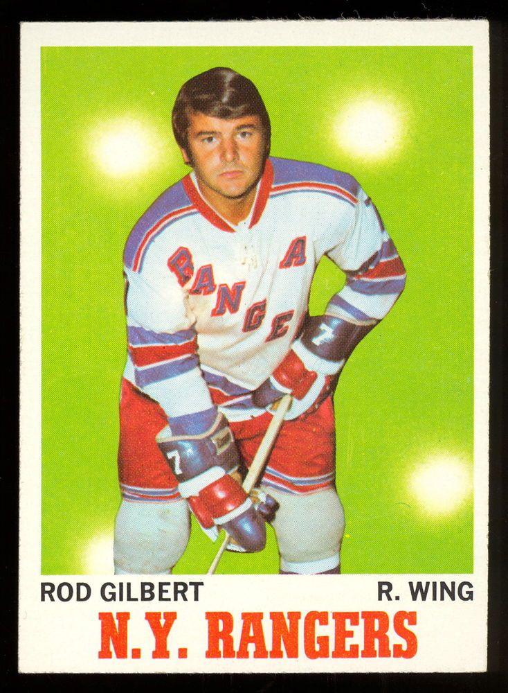 1970 71 TOPPS HOCKEY 63 ROD GILBERT NM MINT NEW YORK N Y RANGERS