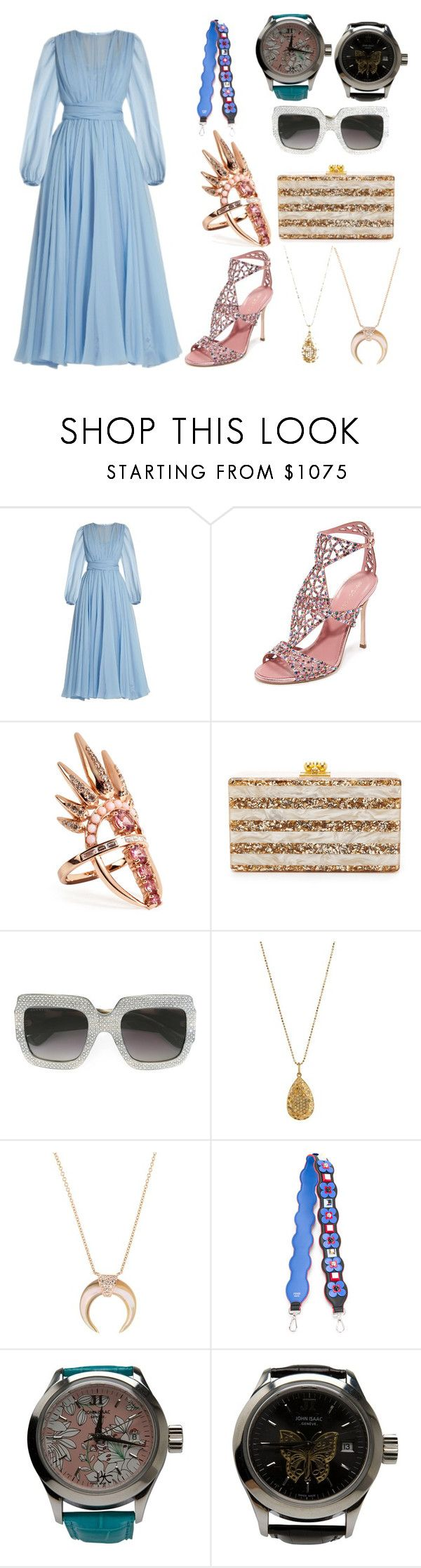 """Ultra fashion"" by gadinarmada-1 ❤ liked on Polyvore featuring Dolce&Gabbana, Sergio Rossi, Nikos Koulis, Edie Parker, Gucci, Carolina Bucci, Jacquie Aiche, Fendi and John Isaac"