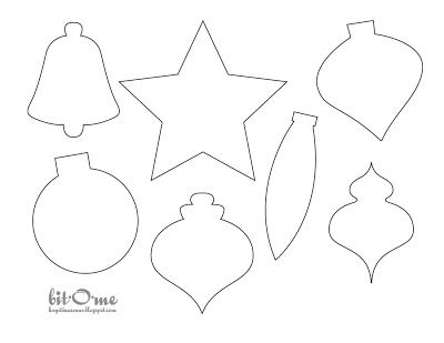 felt ornaments templates | own felt christmas tree ornaments the ornaments were embellished using ...