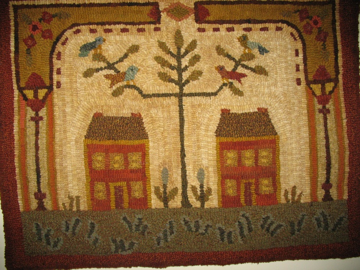 Peggy Teich Hooked Rug @ The Country Crock