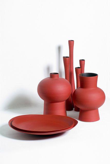 Rina Menardi; Glazed Ceramic Vessels, 2007.
