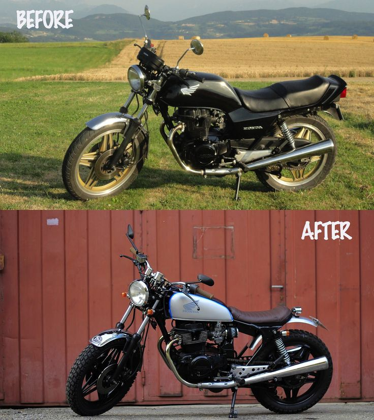 Before and after of a CB 400 N