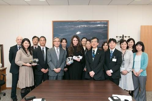 Possible next Soyuz/ISS space tourist Sarah Brightman visiting JAXA (Japan Aerospace) Head Quarters in Tokyo, Japan!