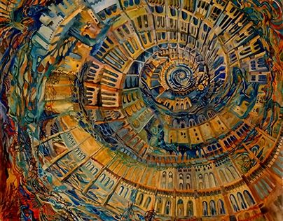 """Check out new work on my @Behance portfolio: """"Spiral city"""" http://be.net/gallery/48167733/Spiral-city"""