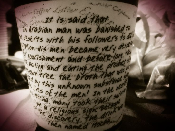 The story of the Coffe Mocha on a Cup :D