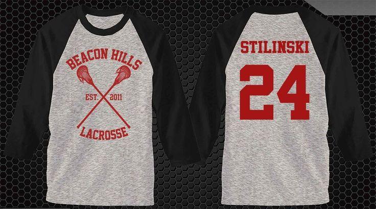 beacon hills lacrosse stiles stilinski 24 dylan o'brien teen wolf shirt tshirt raglan  #unbranded #raglanbaseball tyler posey yukimura hale teen wolf