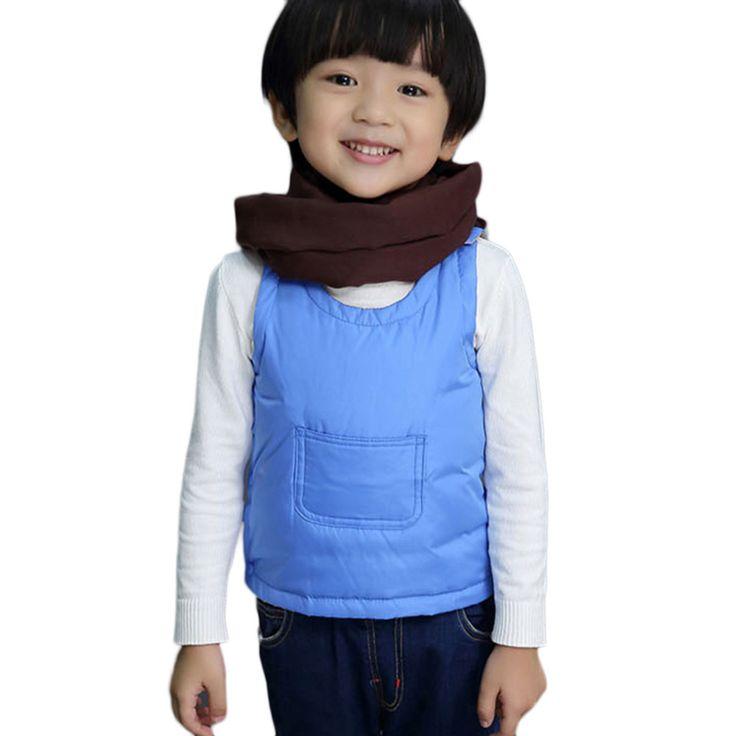 Yuerlian Children's Down 90% White Duck Down Boys and Girls Child Cotton Vest Kids Vest Outerwear Winter Warm Vest O-NECK
