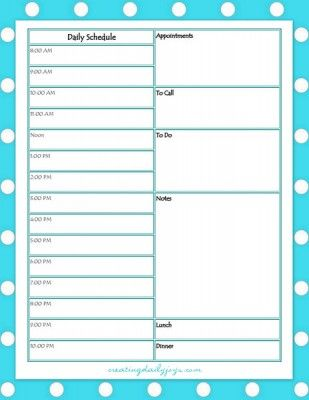 Free Daily, Weekly Schedule Printables | Creating Daily Joys | Series on Aging: Tips on Caring for Parents, Part Two-   Get Organized! http://www.creatingdailyjoys.com/series-aging-tips-caring-parents-pt2-get-organized/