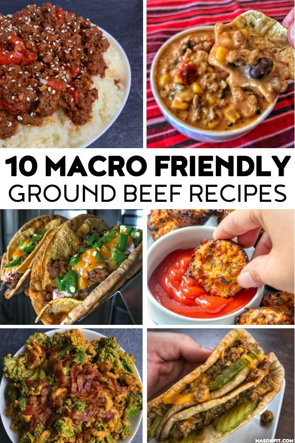 A Roundup Of Macro Friendly Ground Beef Recipes Like Cheeseburger Bites Taco Soup Beef And Br Macros Diet Recipes Healthy Beef Recipes Macro Friendly Recipes