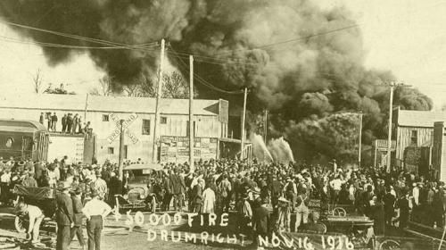 Drumright, Oklahoma Fire, Nov. 16, 1916