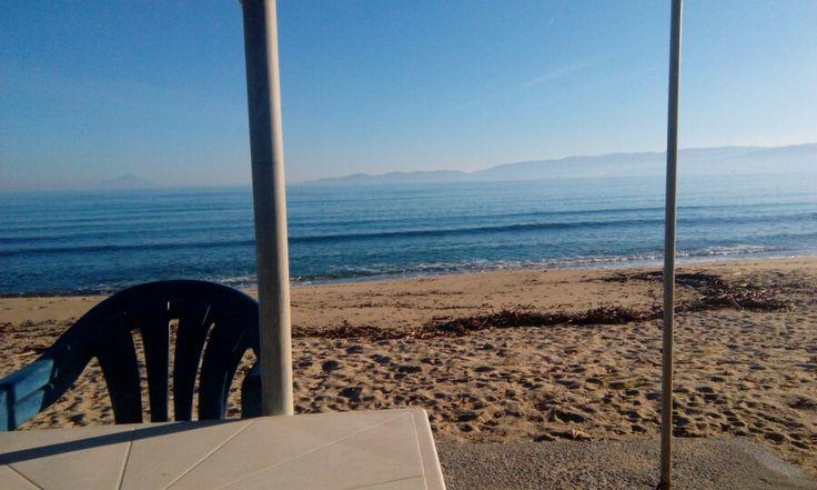 Παραλία Οφρυνιου στην περιοχή Ofrínion, Καβάλα