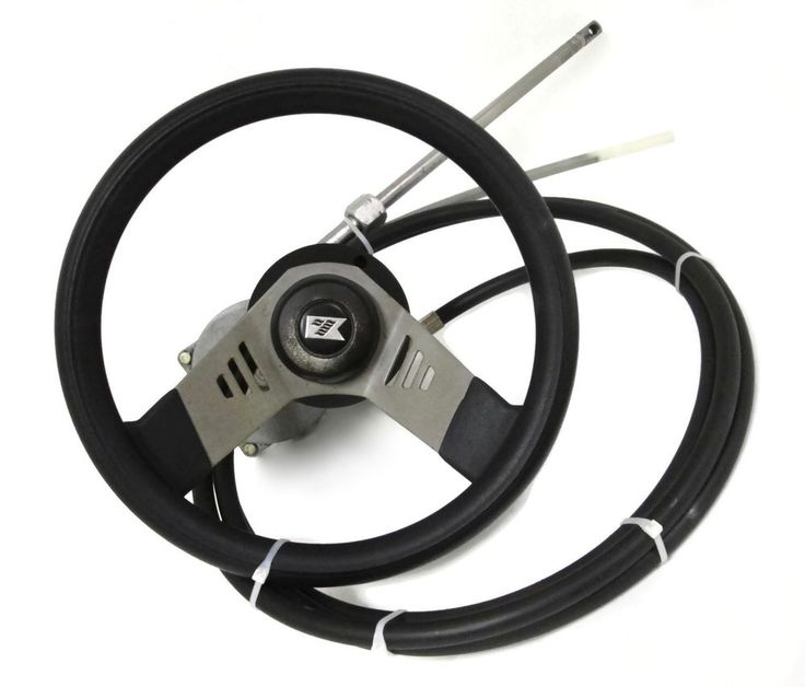 Boat Steering System Teleflex Rotary Helm SH5023 13.5 ft Cable plus Steering Wheel #TeleflexMarine #Boat #BoatSteering #michiganfreshwatermarine