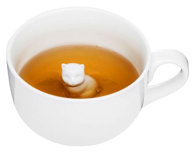 Kubek porcelanowy z kotkiem Tea, 600 ml