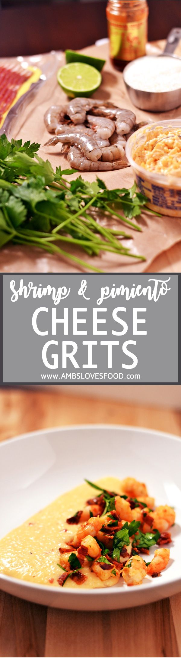 Shrimp & Pimiento Cheese Grits are the answer to everything, this easy super flavorful recipe is one of my absolute favorites.