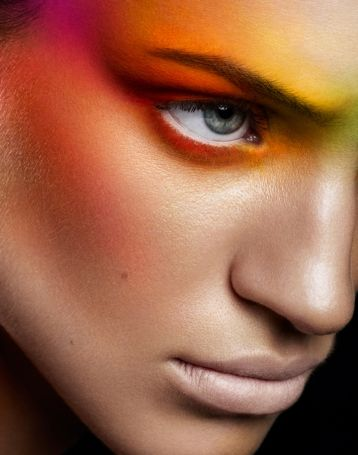Fashion and beauty photography with Christel B   StyleCaster #Bright #colour #makeup