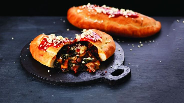 Turn the classic Italian pasty into a muscle-building veggie feast with this recipe from chef Adam Gray