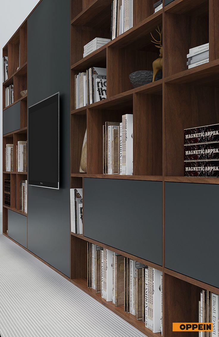 This Is A Beautiful Design Of TV Stand And Bookshelf. The Combination Of  Gray Door