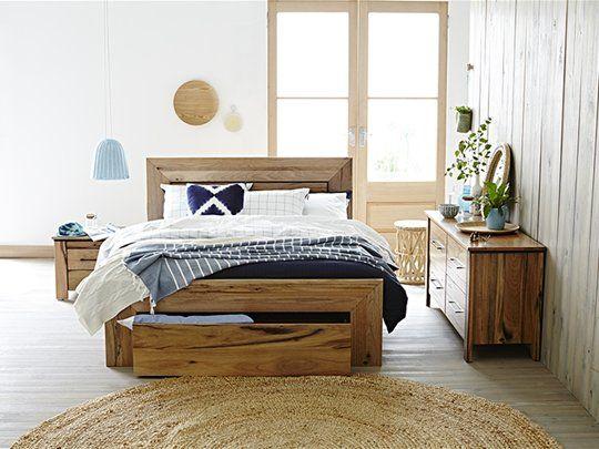 Bunbury Bed Frame (drawer base): Queen Bed (Drawer Base)