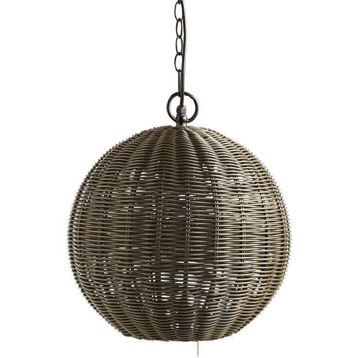 Natural Ball Outdoor Pendant Light - Plastic