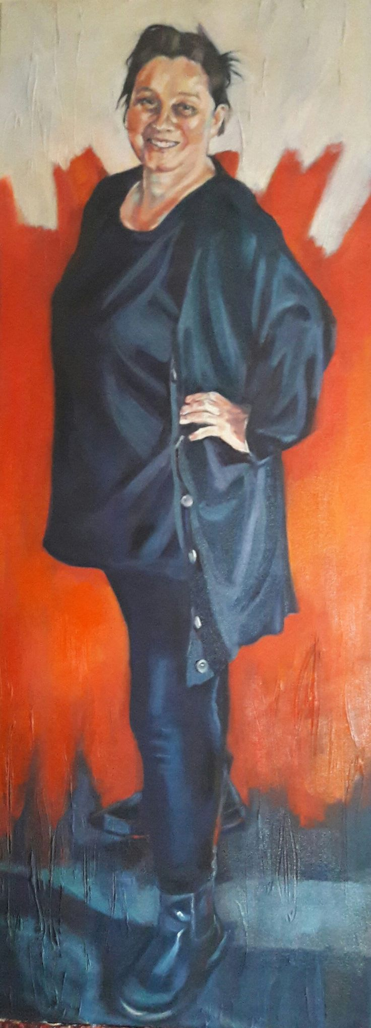 Here I am, this is me - Self portrait oil on canvas