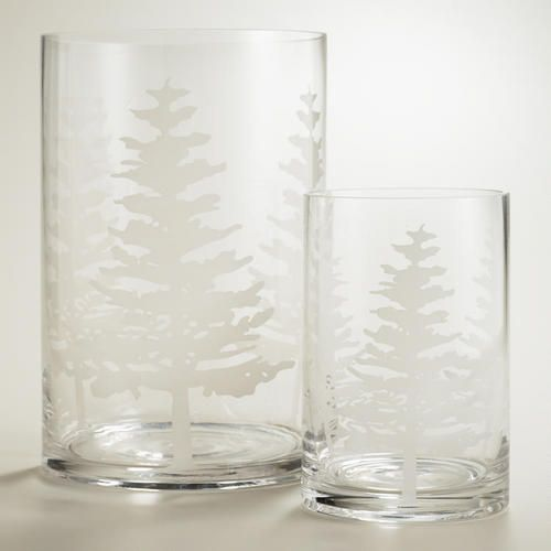 White Tree Glass Hurricane Candleholders | World Market