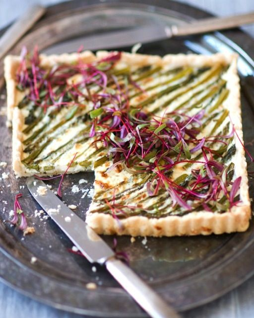 Asparagus Tart with Ricotta: Great recipes and more at http://www.sweetpaulmag.com !! @sweetpaul