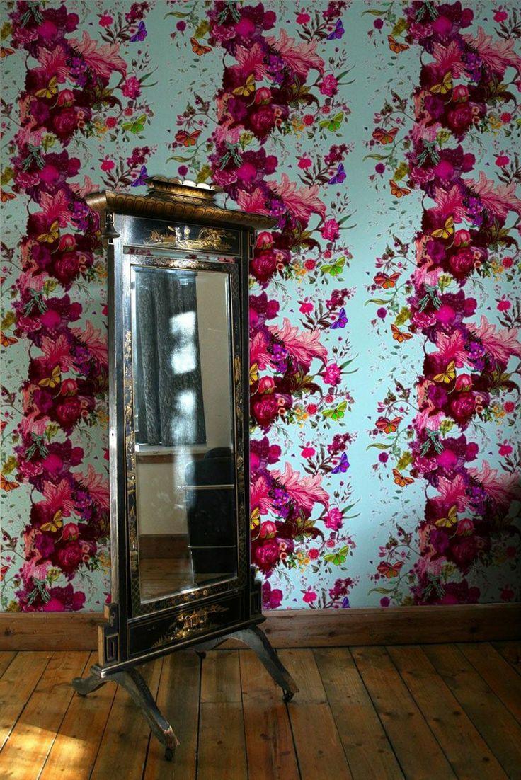 13 best papier peint papillons images on pinterest paint. Black Bedroom Furniture Sets. Home Design Ideas