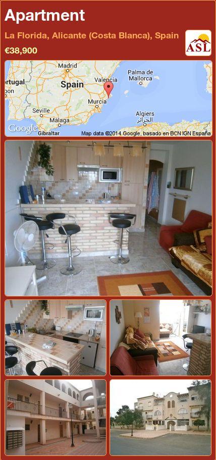 Apartment in La Florida, Alicante (Costa Blanca), Spain ►€38,900 #PropertyForSaleInSpain