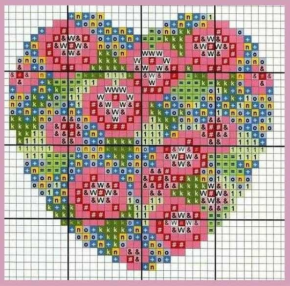 Журналы по вязанию и рукоделию.: Сердечки - подборка схем для вышивания и вязания