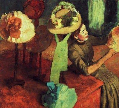 En la sombrerería, Edgar Degas. (Dominio Público)