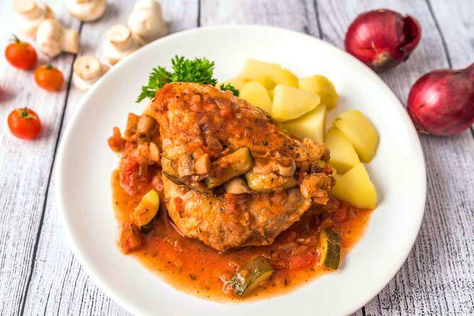 Zöldséges provence-i csirke