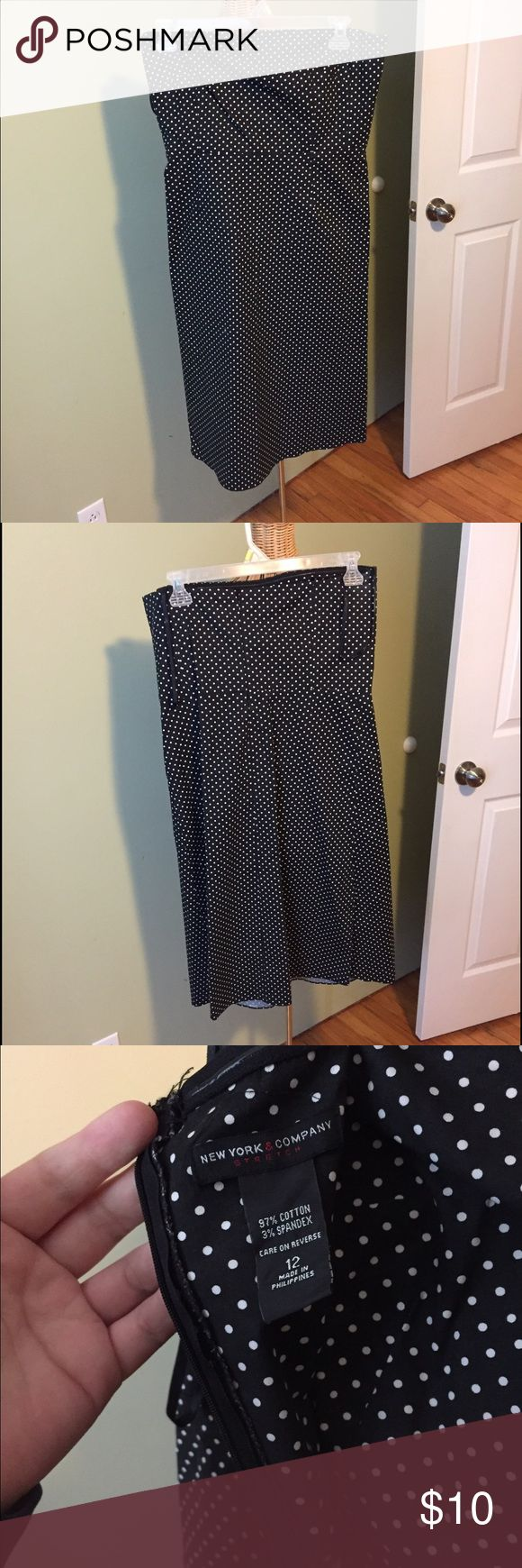 New York & Company Dress Strapless polka dot dress. So cute, very flattering and in great condition! New York & Company Dresses Strapless