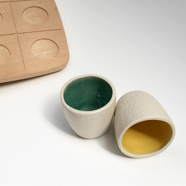 Shot cups  for Woody Tic Tac Toe Drinking set. #agceramica #woody #tictactoe #product #diseño #design#shots #mug #chupitos #moldcasting