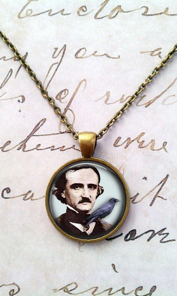 Mercy's Edgar Allan Poe necklace.
