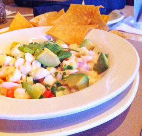 Bonefish Grill Seafood Ceviche  Copycat Recipe   Serves 4   4 ounces Yellow Tail Snapper  4 ounces Pink Shrimp  4 ounces small bay sc...