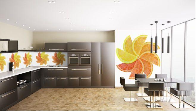 fruity kitchen photo wallpaper / wall mural #mural #wallpaper  #photowallpaper | kitchen ideas | Pinterest | Photo wallpaper, Kitchen  photos and Wall murals