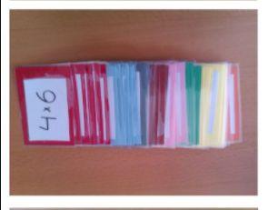 TAFELKWARTET • Te gebruiken om 1) de maaltafels in te oefenen of 2) bij een les taal woorden te zoeken die bij elkaar horen. • Je hebt allerlei maaltafels en het is de bedoeling dat je alle tafels van 1 maaltafel verzamelt, bijvoorbeeld die van 6. Je vraagt of iemand bijvoorbeeld 6 x 4 heeft en als dat zo is, moet je de uitkomst geven. Is dit juist, dan krijg je het kaartje.