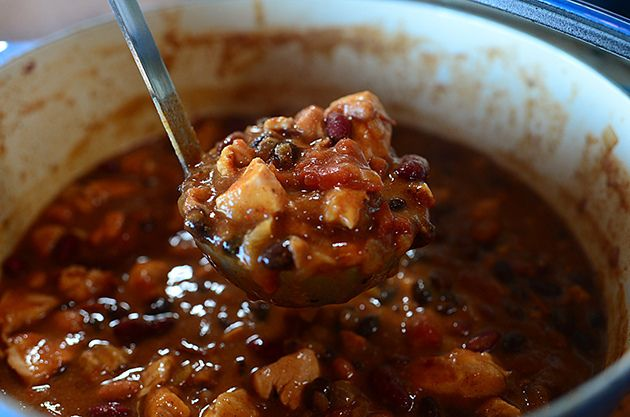 The Pioneer Woman's Chipotle Chicken Chili- A must make! I made this for dinner tonight, and it is definitely going to become part of our rotation! -hj