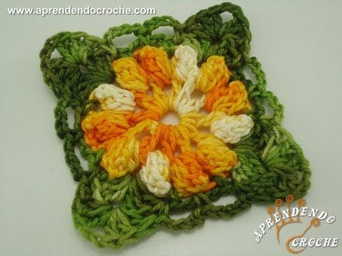 Motivo de Croche Flor Carrossel - Aprendendo Croche