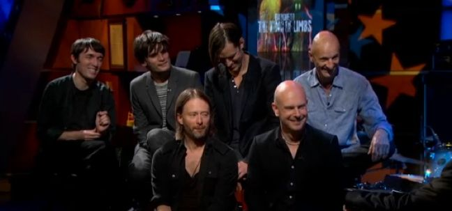 "Radiohead Hit ""Colbert""Behind The Scen Reports, Hour Long Special, Night Hour Long, Radiohead Hit, Hit Colbert"