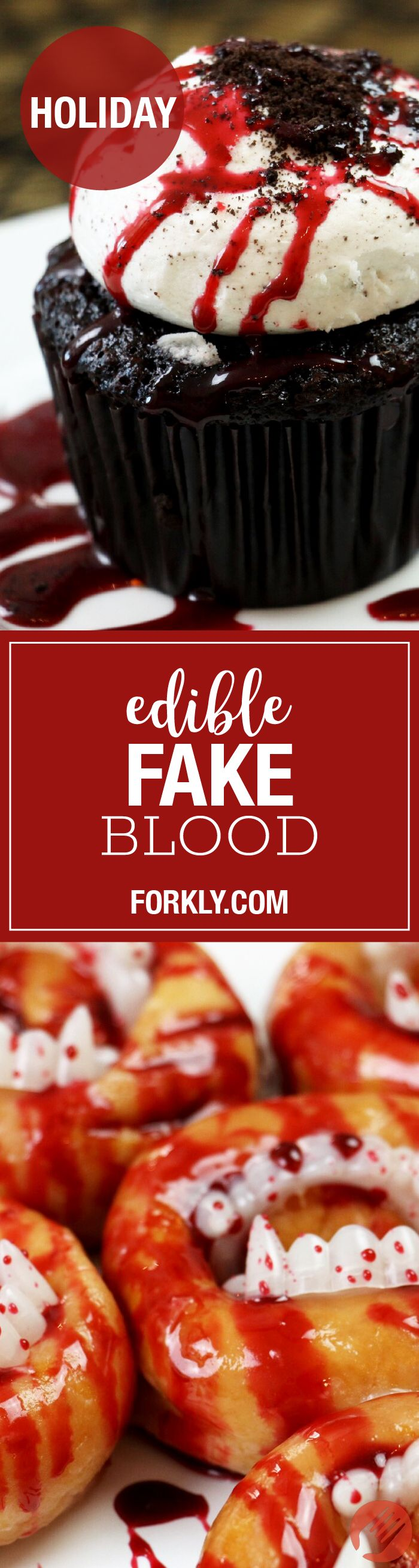 Edible Fake Blood The Easiest Way To Spookify Your Desserts Into A Bloody Gory Halloween