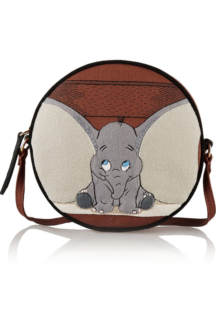 Olympia Le-Tan | Dumbo Ears Dizzie embroidered cotton-canvas shoulder bag | NET-A-PORTER.COM