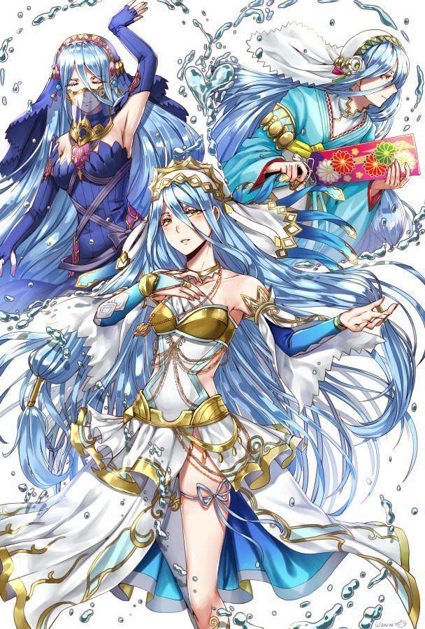 Fire Emblem • performing Arts Azura, New Year Azura and diva Azura