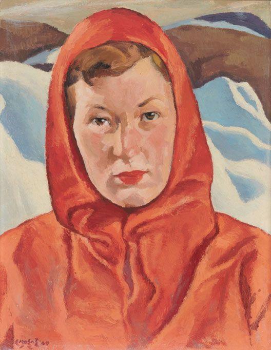 """The Ski Patroller"",by Edwin Holgate"