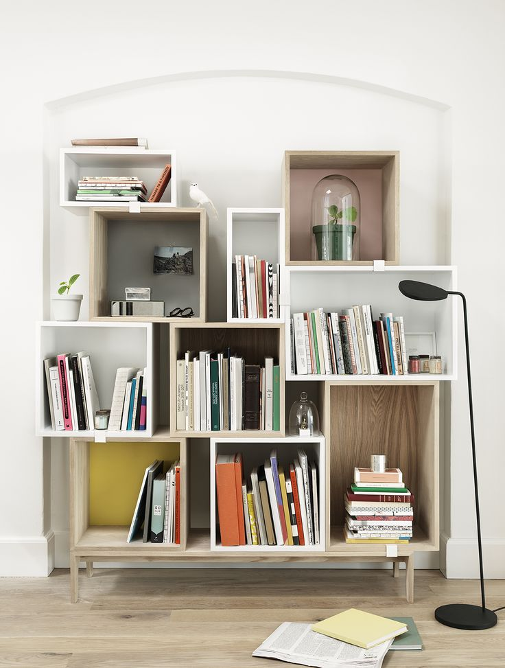 Muuto - Stacked shelf system, designed by JDS Architects, works perfectly as a book shelf - only your imagination sets the limit.