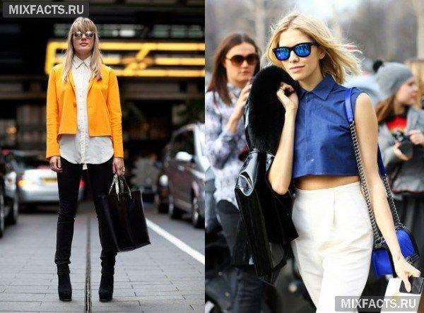 зеркальные цветные очки