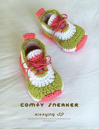 Comfy Baby Sneakers Crochet Pattern by Crochet Pattern Kittying from…