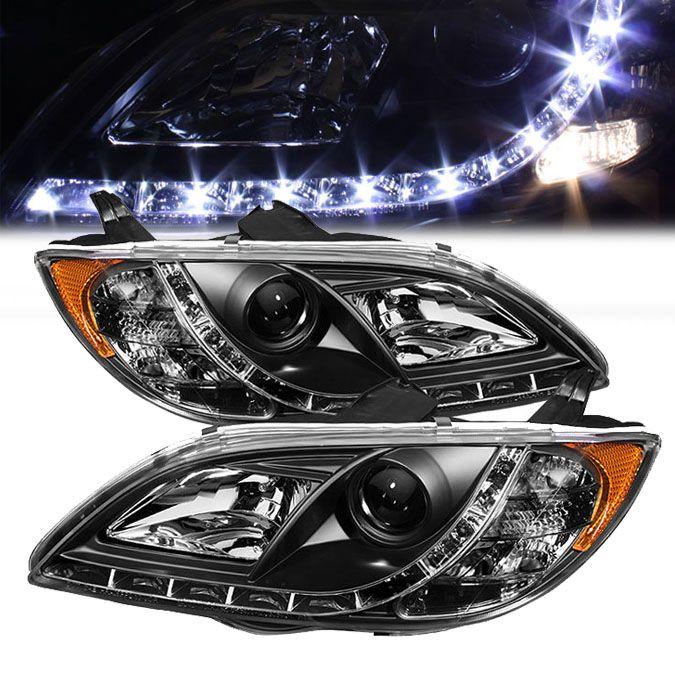 2010 Mazda Mazda6 Interior: 04-08 Mazda 3 Sedan 4-Door LED DRL Projector Headlights